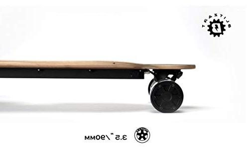 "BLITZART Tornado 38"" Hub-Motor Electric Skateboard Longboard 3.5"""