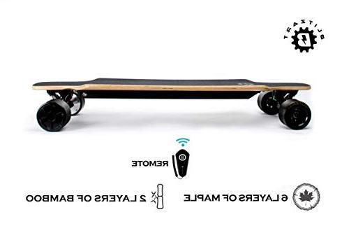 "BLITZART Tornado 38"" Hub-Motor 700W Skateboard Longboard 3.5"" PU"