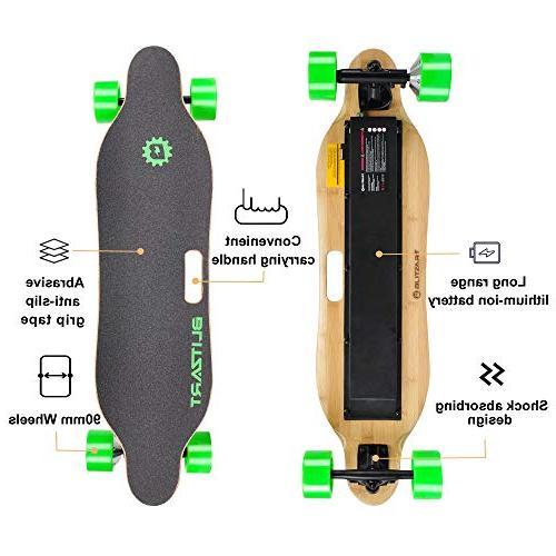 BLITZART Longboard Motorized Electronic Hub-Motor, Wheels,