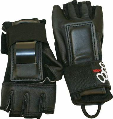 triple 8 hired hands gloves m black