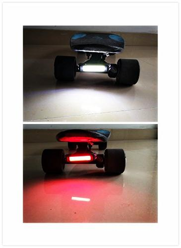 Ultra Skateboard 168T Bicycle Intensity Rear LED Fits On Any Boards&Bikes,Helmet Flashlight modes
