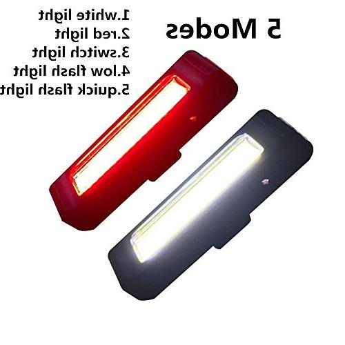 Ultra Light 168T USB Bicycle Light.Red High Intensity Rear Fits Any Boards&Bikes,Helmet Safety modes