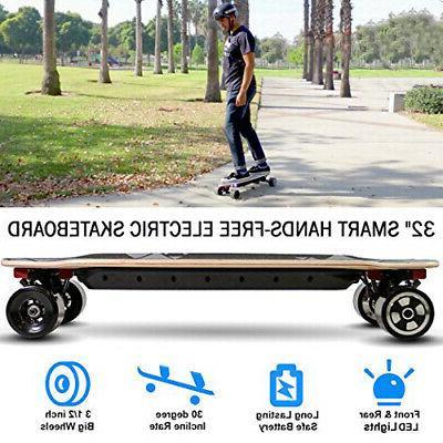 "Upgraded 32"" Electric Skateboard Top Speed Wheels"