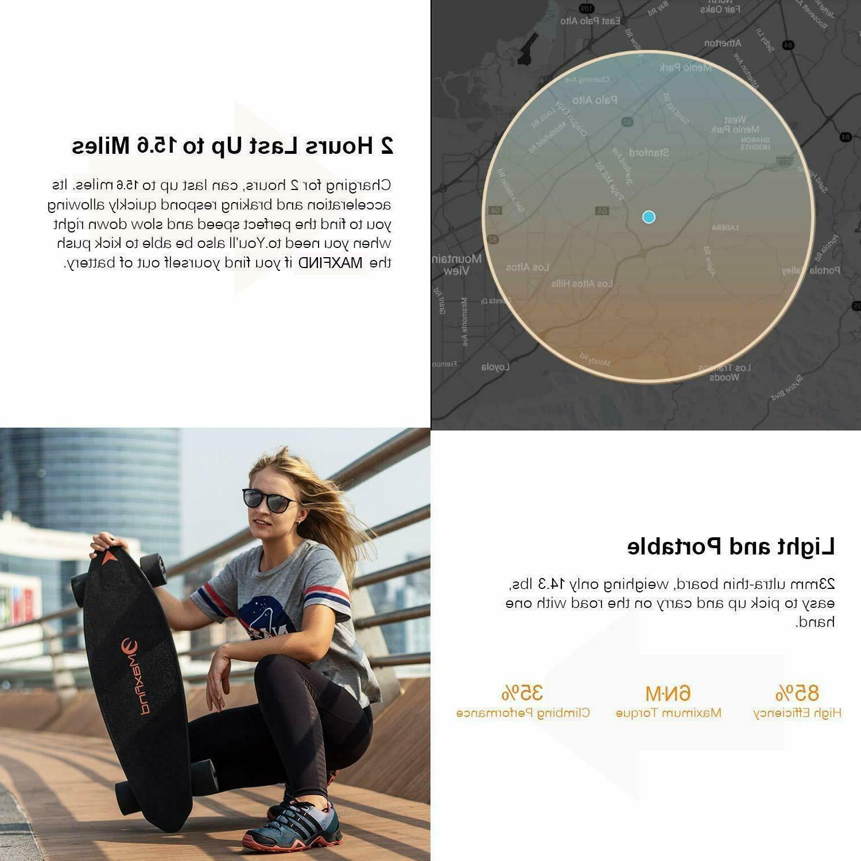 USA 4 Electric Skateboard Max 2,1000W Dual Wireless Skateboard
