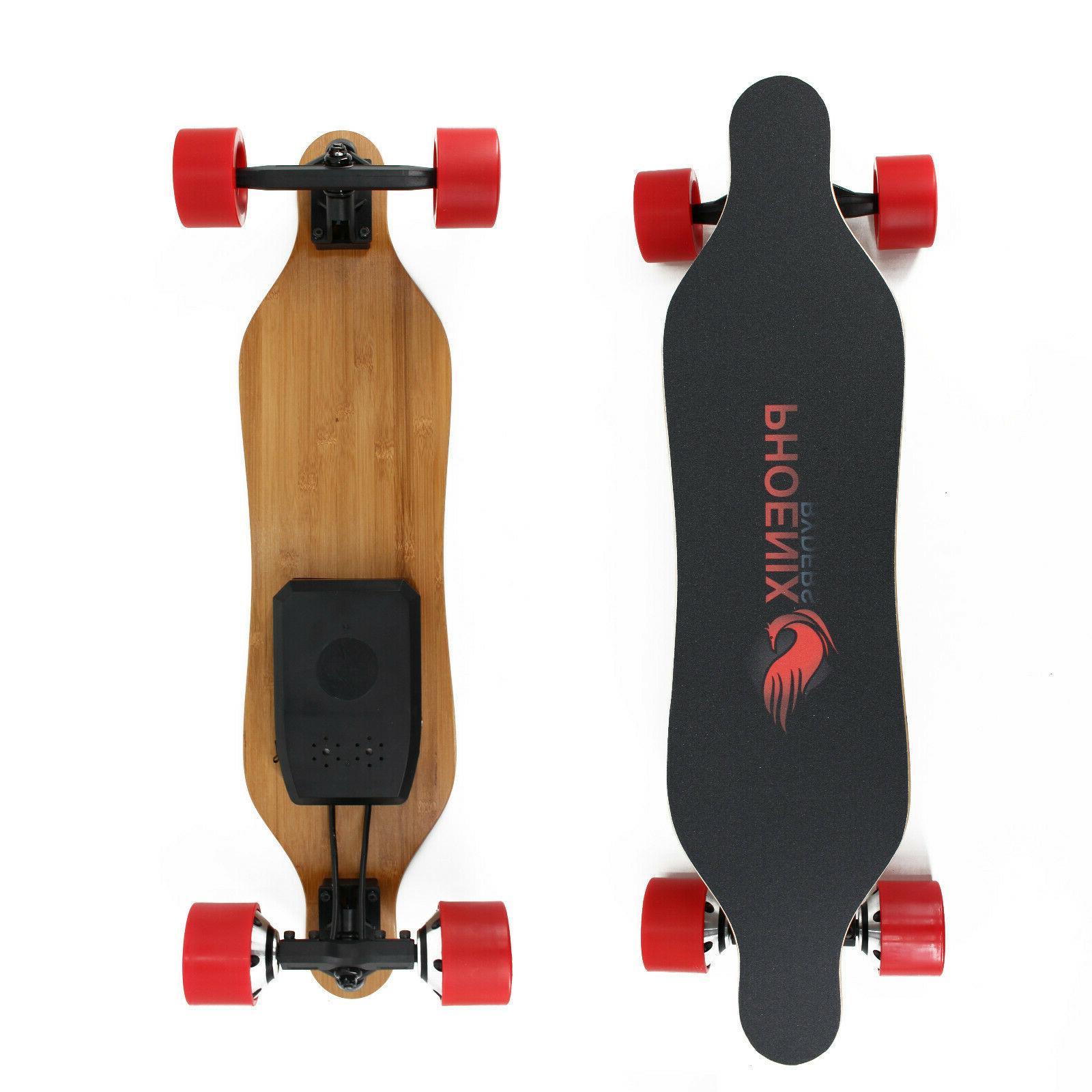 USED Skateboard Miles Dual 250 Hub Motor Longboard Remote