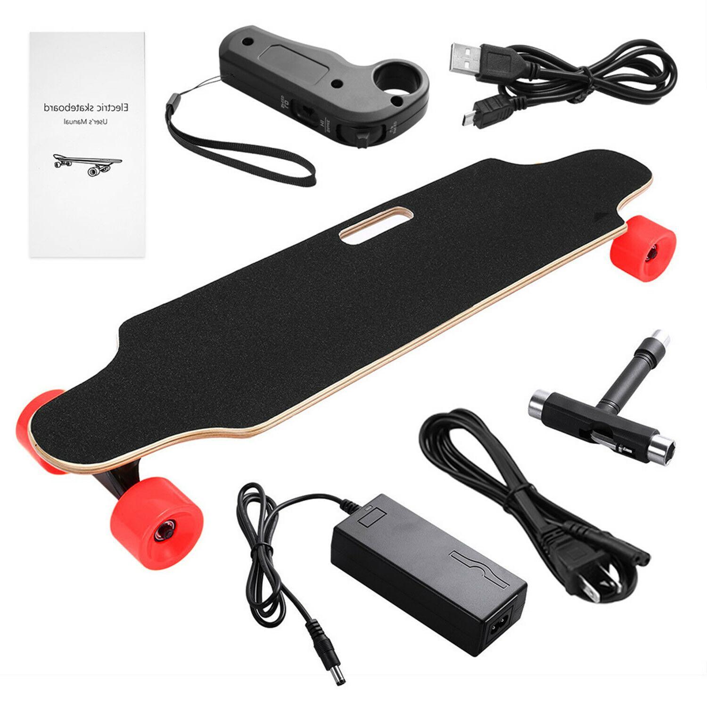 wireless 20km h electric skateboard 4 wheels