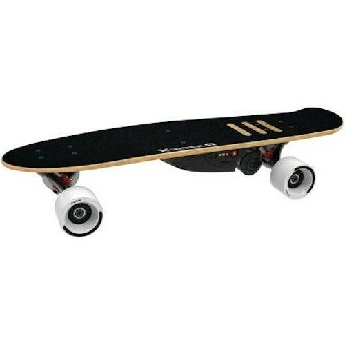 x 125 watt electric skateboard cruiser black