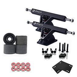 "Maxfind Longboard Skateboard Package Combo with 7"" Trucks,"