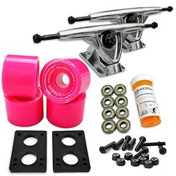Yocaher LONGBOARD Skateboard TRUCKS COMBO set w/ 71mm WHEELS