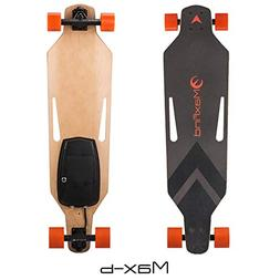 MaxFind Max B Electric Skateboard Longboard with Remote Cont