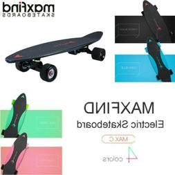 max c electric skateboard single motor board
