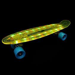 Just Speed 22 inch mini Cruiser skateboard- Full Light up de
