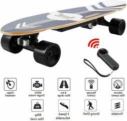 Mini Electric Skateboard 350W Motor Longboard Board Wireless