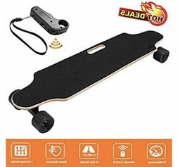 New spy black electric skateboard with charger and wireless