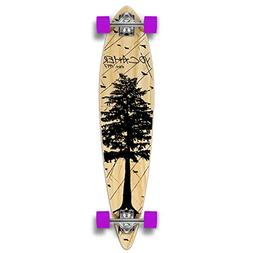 Yocaher in The Pines Natural Longboard Complete Skateboard -