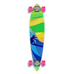 Yocaher Punked Blue Surf's Up Longboard Complete Skateboard