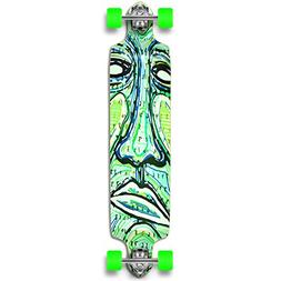 Yocaher Punked Countdown Longboard Complete Skateboard - - A