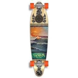 Yocaher Punked Wave Scene Longboard Complete Skateboard - Av
