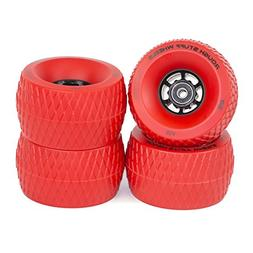 Slick Revolution RED Skate Wheels: 4-Pack Jumbo 110mm Rough