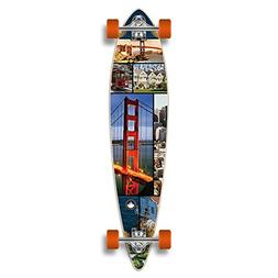 Yocaher Special Graphic Complete Longboard PINTAIL skateboar