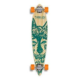 Yocaher Spirit Wolf Longboard Complete Skateboard Cruiser -
