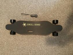 Sunset Dual Motor Electric Skateboard/longboard- Black/wood