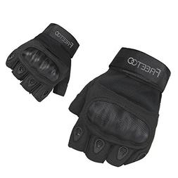 FREETOO Tactical Gloves Military Rubber Hard Knuckle Outdoor