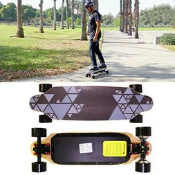 "Upgraded 32"" 2 Motor Electric Skateboard Charger Longboard"