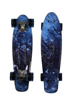 "MoBoard 22"" Vintage Style Graphic Complete Skateboard, Elect"