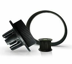 Wheel Pulley Motor Pulley 15mm Belt Kit for DIY Electric Ska